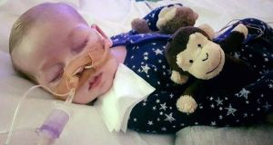 Charlie Gard's parents have said their baby son's life-support will be switched off on Friday. Photograph: Family handout/PA Wire