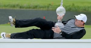 Rory McIlroy with The Irish Open trophyat the K Club last year. Photograph: Donall Farmer/Inpho