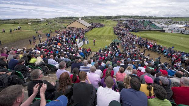 Record crowds flocked to the Irish Open at Portrush in 2012. Photograph: Russell Pritchard/Inpho