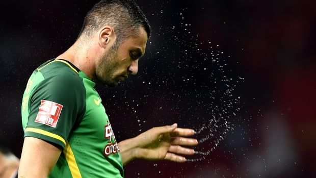 Burak Yilmaz: the passionate Turkish striker is a firm fans' favourite at Beijing Guoan. Photograph: Getty Images