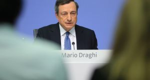 Mario Draghi: the ECB president's comment last week that reflationary forces had replaced deflationary ones caused a flurry of activity in  financial markets. Photograph: Krisztian Bocsi/Bloomberg