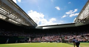 A general view inside Centre Court as Roger Federer of Switzerland plays his men's  quarter-final match against Marin Cilic of Croatia last year.  Photograph: Adam Pretty/Getty Images