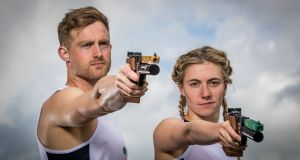 Arthur Lanigan O'Keeffe and  Natalya Coyle have been awarded bronze medals for the mixed relay at the 2015 Pentathlon World Championships in Germany. Photograph: Morgan Treacy/Inpho