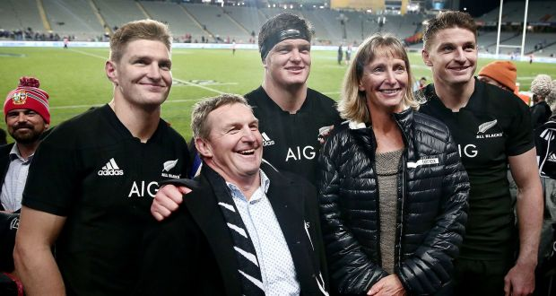 Father of All Blacks' Barrett clan has plenty to smile about