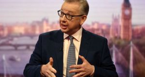Britain's secretary of state for the environment Michael Gove. Photograph: Reuters