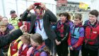 Taoiseach Leo Varadkar finds himself in a bit of a knot after he was greeted by the Port of Galway Sea Scouts during  SeaFest at Galway Harbour.  Photograph: Joe O'Shaughnessy