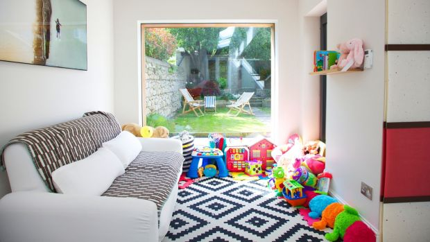 Carol-Anne's daughter Robyn has a window on the garden from her playroom. Photograph: Emily Quinn