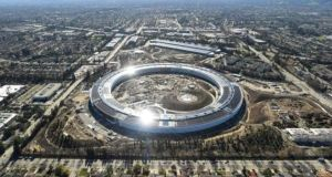 One Infinite Loop: The address of Apple's new headquarters in Cupertino, California. File photograph: Noah Berger/Reuters