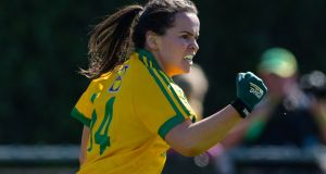 Geraldine McLaughlin of Donegal celebrates scoring a goal. File photograph ©INPHO/Tom Beary