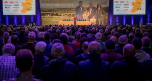 The Glanbia Co-Op Special General Meeting in May when the deal was approved by shareholders. (Photograph: Dylan Vaughan)