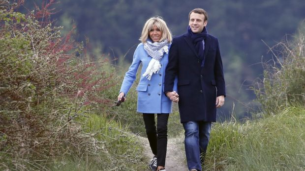 Emmanuel Macron and his wife Brigitte Trogneux. Photograph: Chesnot/Getty Images