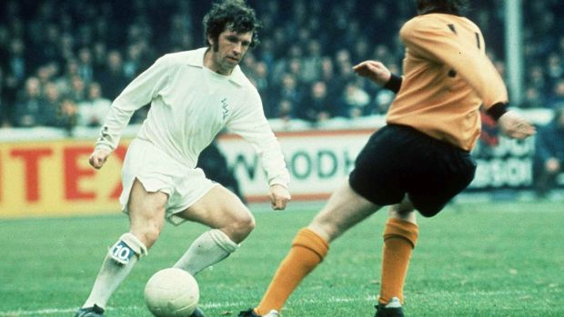 Johnny Giles playing for Leeds. Photograph: Inpho/Allsport