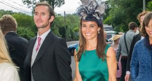 Pippa Middleton and  husband James Matthews: stayed at the Eccles Hotel, Glengarriff,  for the wedding of  college friend Camilla Campion-Awwad to Oliver Jenkinson. Photograph:  Provision