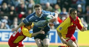 Brian O'Driscoll in action against Perpignan in 2003. Photograph: Billy Stickland/Inpho