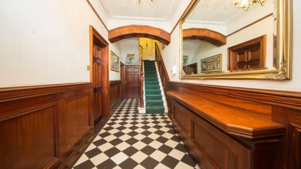 The hallway at No 1 Abbey Street, Howth, Co Dublin.
