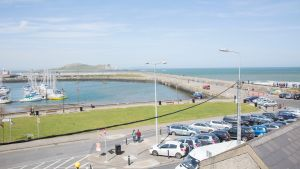 The view from No 1 Abbey Street, Howth, Co Dublin.