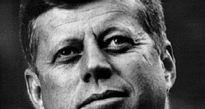 "Former US president John F Kennedy: ""The informing spirit of the American character has always been a deep religious sense."" Photograph: JFK Library/National Archives/Reuters"