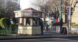 The coffee kiosk in Ballsbridge: bought by Starbucks brothers for €330,000.