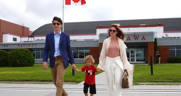 8f8dfebf8987bf Canada s prime minister Justin Trudeau with his son Hadrien and wife Sophie  Gregoire Trudeau in Ottawa