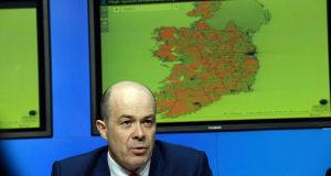 Denis Naughten: Doesn't expect the first homes to be connected until at least 2019. Photograph: Cyril Byrne