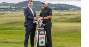 Irish tax group Immedis announced a three-and-a-half-year sponsorship with Offaly golfer Shane Lowry at St Anne's Golf Club, Dublin, on Monday. Photograph: ©INPHO/Morgan Treacy