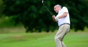 Richard Hool on the 18th fairway. Photograph: Arthur Allison.