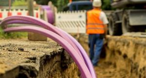 Broadband network being installed. The National Broadband Plan  to equip 542,000 rural homes and businesses with high-speed broadband has been beset with problems and delays. File photograph: iStockPhoto
