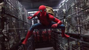 Tingling sensation: Tom Holland in Spider-Man Homecoming. Photograph: Marvel