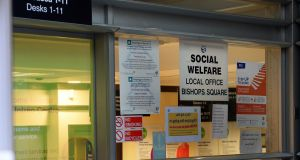 Social welfare office near Aungier street, Dublin. Photograph: Eric Luke / The Irish Times