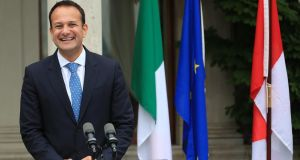 Taoiseach Leo Varadkar: said the Government acknowledged there was a concern about a massive hike in charges under the new waste charges system.  Photograph: Colin Keegan, Collins Dublin