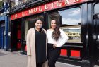 Karena and Kasey Te Awa Bird, New Zealand MasterChef winners, filming their food and travel show in Dublin on Tuesday