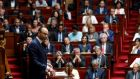French prime minister Édouard Philippe delivers a speech at the National Assembly in Paris. Photograph: Philippe Wojazer/Reuters