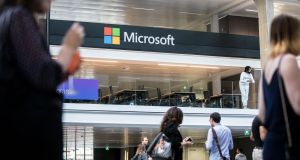 Microsoft is expected to announce its reorganisation plans formally on Wednesday after having sent an email to staff Monday saying that its sales and marketing operations had been reorganised. Photograph: Christophe Morin/Bloomberg)