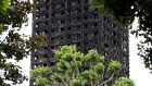 Damage to Grenfell Tower is seen following the fire in London on June 25th, 2017. Photograph: Peter Nicholls/Reuters