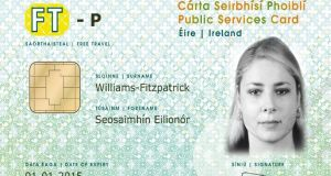 An example of the public services card.