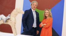 Nick Wheeler with KPMG private enterprise partner Olivia Lynch. Photograph: Julien Behal