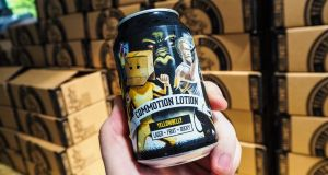 Commotion Lotion is a 4.4 per cent lager made with  with tonic wine, raspberries, pineapple and strawberries