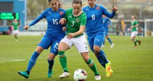 "Ireland's Harriet Scott: ""I love . . . if it was a choice between scoring or making a block in the six yard box that stops a goal, l would probably choose the block; it's much more satisfying."""