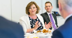 Scottish foreign and cultural affairs minister Fiona Hyslop attending a British Irish Chamber of Commerce discussion on cross-channel cooperation this week.
