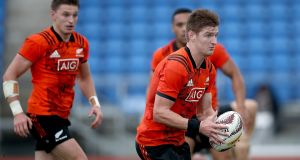 Jordie Barrett will vie with elder brother Beauden for kicking duties against the Lions on Saturday. Photograph: Phil Walter/Getty