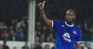 Manchester United have agreed a deal for Everton striker Romelu Lukaku. Photograph: Peter Byrne/PA
