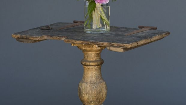 Cellar table made with reclaimed wood from Guinness's Brewery (€480).