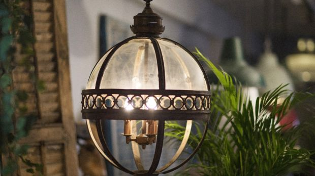 Cast iron glass ball light (€590) at Mosa
