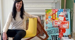 Niamh Woods, of the shop Seven Woods, pictured with her favourite furnishings. Photograph: Eric Luke/The Irish Times