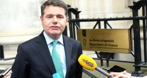 Minister for Finance Paschal Donohoe has poured cold water on calls for increased infrastructure spending. Photograph: Cyril Byrne