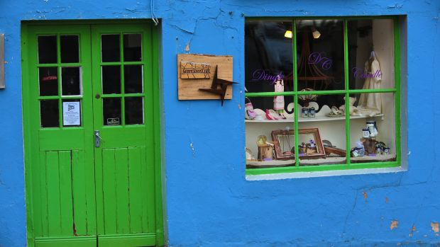 Dingle's shopfronts.
