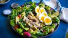 Niçoise tuna with tender boiled eggs