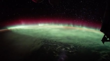 Time-lapse of Northern Lights captured from space