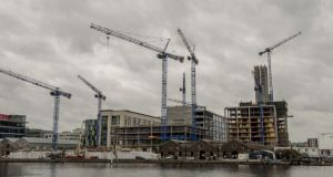 Grand Canal Dock in Dublin. Land prices are rising rapidly in response to the increased sale price for housing. Photograph: Brenda Fitzsimons