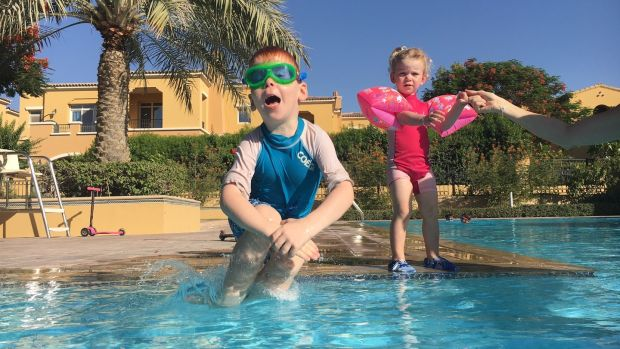 Niamh Albertyn's children Liam (4) and Ciara (2): 'Summer in Dubai with kids is tough.'